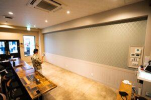 飲食店 塗装 ウォールペイント Italian Dining LIggI アイディーエル 愛知県江南市の建設会社・リノベーション